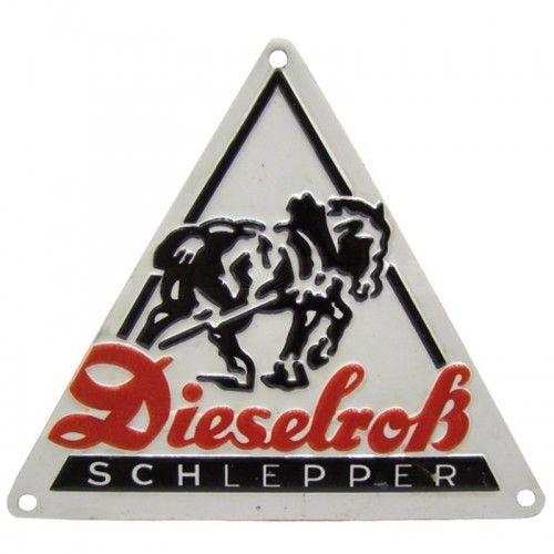 Emblème Dieselross en aluminium, pour garde-boue - Fendt - Dieselross Fendt - 1