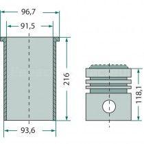 Kit cylindrée complet - Fordson et Ford - Super Dexta Fordson et Ford - 2