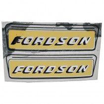 """Autocolant """"FORDSON""""- fond jaune - Fordson et Ford - Dexta, Super Dexta, Major, Super Major Fordson et Ford - 1"""