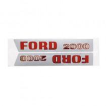 Jeu d'autocollants - anciens modèles - Fordson et Ford - 2000 Fordson et Ford - 1