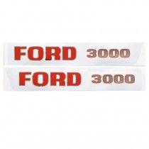 Jeu d'autocollants - anciens modèles - Fordson et Ford - 3000 Fordson et Ford - 1