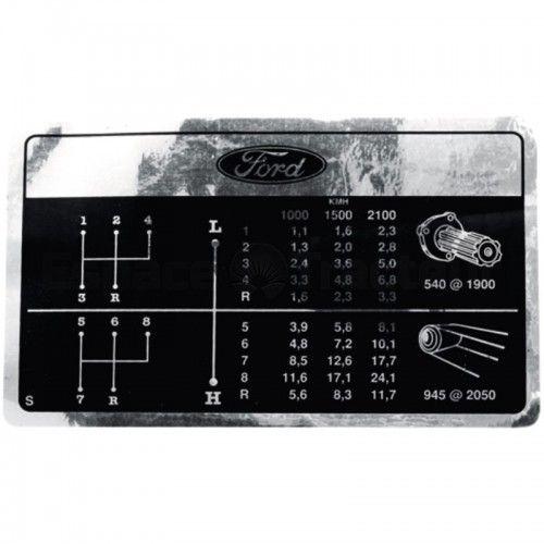 Autocollant - changement de vitesses - Fordson et Ford - 2000, 2600, 3000, 3600 Fordson et Ford - 1