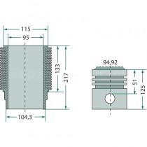 Kit cylindrée Ø95mm - Deutz FL812 Deutz - 2