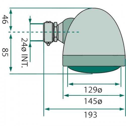 Phare avant avec fixation Ø24, ampoule incluse - Deutz série D et D05 Deutz - 3