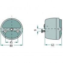Feu arrière stop, clignotant et éclaire-plaque - Hella - Deutz série D Deutz - 1