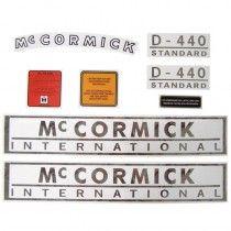 Jeu d'autocollants - complet - McCormick et IHC - D 214 IH - International Harvester - 1