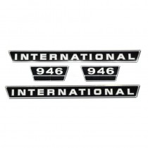 Jeu d'autocollants - revêtement en chrome - McCormick et IHC - 946 IH - International Harvester - 1