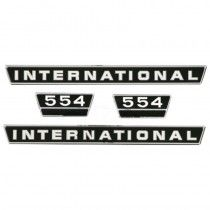 Jeu d'autocollants - revêtement en chrome - McCormick et IHC - 554 IH - International Harvester - 1