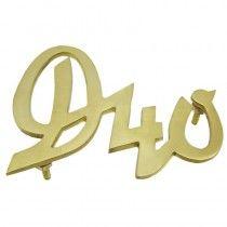 Emblème DEUTZ calandre 250x33 - Deutz série D et D05 Deutz - 1