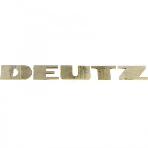 Emblème DEUTZ face sur capot 250x33 - Deutz  D06 Deutz - 1