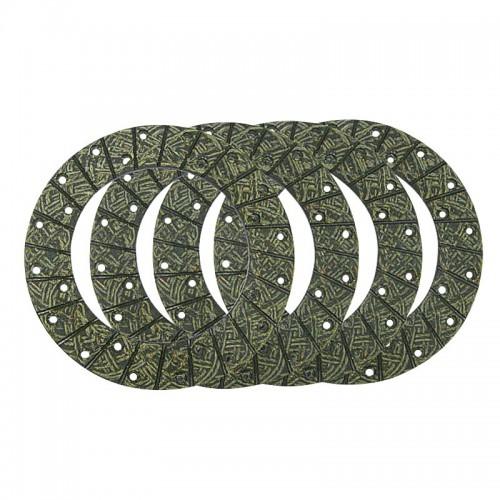 Jeu de garnitures de frein à disques -rivets inclus - Deutz D4505, D5505 D2506, D3006, D4006, D45006, D5006, D5206, D5506, D6206