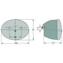 Feu arrière stop, clignotant avec éclaire-plaque - Fendt - Dieselross, Fix 1,2,16, Farmer 1,2, Favorit 1,2 Fendt - 2