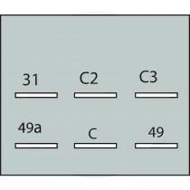 Centrale clignotante 2+1+1, 8x21W/12v, avec support - Fendt - Ancien Fendt - 2