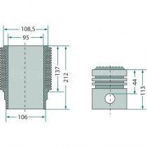 Kit cylindrée complet - Fendt moteur D325 et D925 Fendt - 2