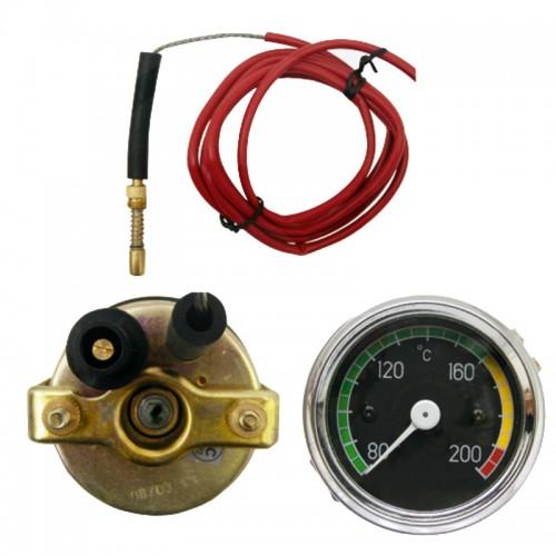 Indicateur de température mécanique - moteurs refroidis par air - M10 x 1 - Ø60 mm - câble 1800 mm  - 1
